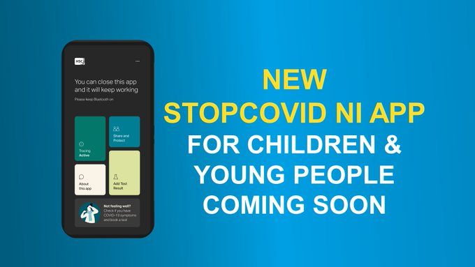STOPCOVID NI APP FOR YOUNG PEOPLE AND CHILDREN