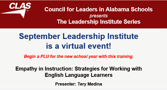 September 9, 10, and 11 from 10-11 a.m. Don't miss this virtual event! @clasleaders