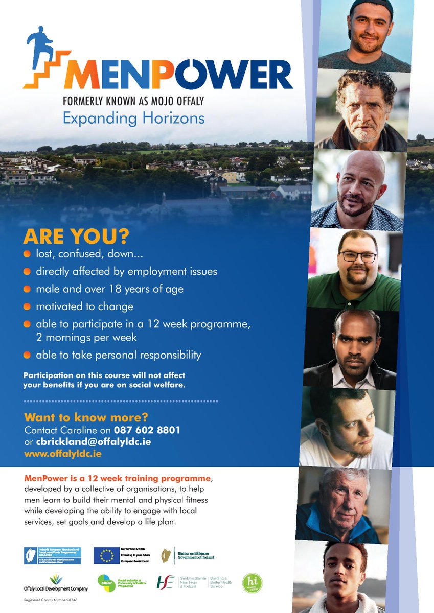 Starting on September 16th, MenPower is a free 12-week training programme, developed by a collective of organisations, to help men learn to build their mental and physical fitness while developing the ability to engage with local services, set goals and develop a life plan. https://t.co/LuZTUikz8R