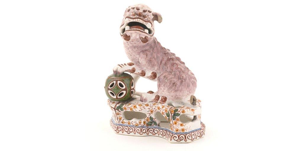 """J O U R N É E  M O N D I A L E  D U  C H I E N ⚫️⚫️⚫️  JOURNÉE MONDIALE DU CHIEN ◎ ◎ ◎  Dans le cadre du Parcours dans les collections. L'Orientalisme, terminé dimanche dernier, nous avons mis à l'honneur cette statuette signée Michel Thies et figurant un """"Lion"""" ou """"Chien Fo"""". https://t.co/5kMV2vJ9td"""