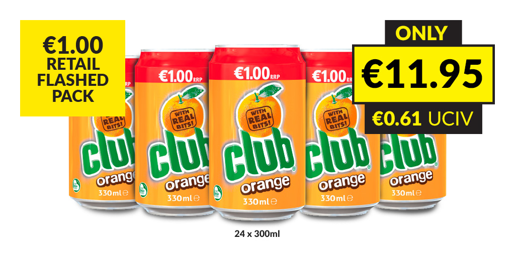 #DiscoverTheValue on our *NEW* @cluborange €1.00 retail flashed pack! 🤩 Great value  🤤 Great taste 🍊 With real bits Want to know more? Check out all our latest Retail offers: https://t.co/kikEEf5cjR https://t.co/dqB4kyiLHA