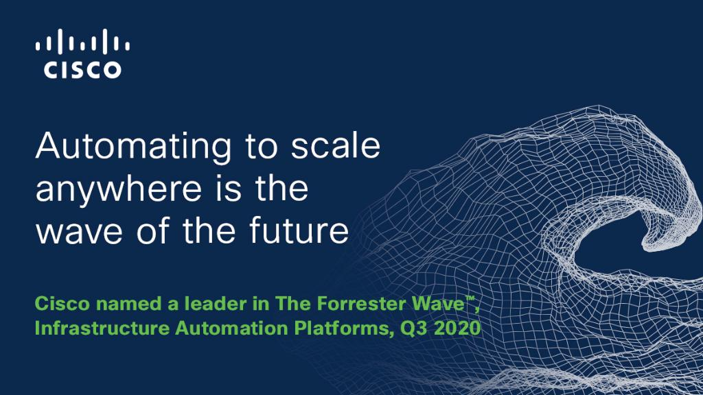 Cisco is making waves in the #infrastructure and #cloud automation market! Learn why we were named a leader in The @Forrester Wave™ Infrastructure and Automation Platforms, Q3 2020 report. https://t.co/QD1HHerb5o https://t.co/Uw9ollcCd0
