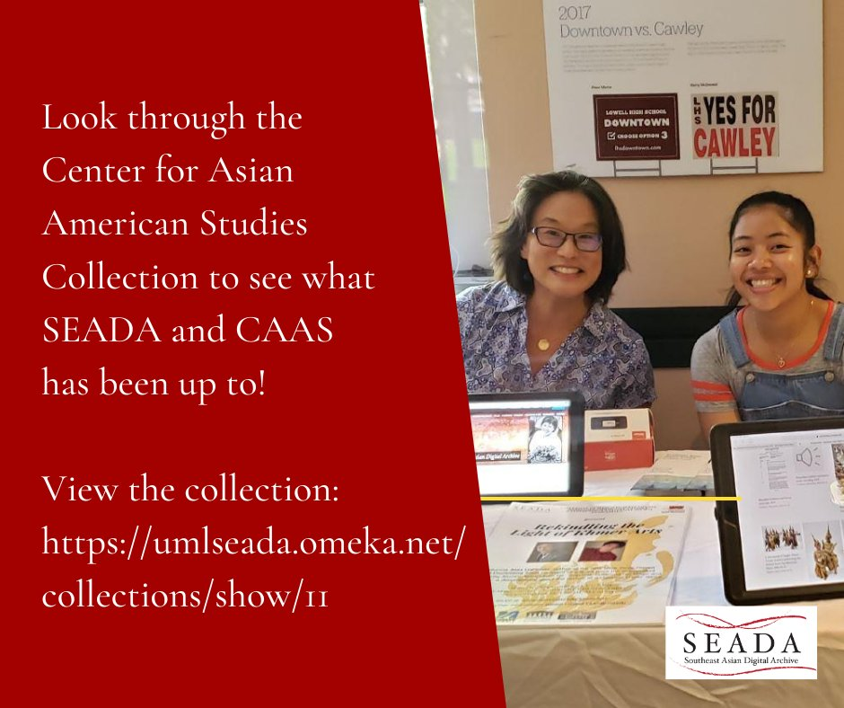 Look through the Center for Asian American Studies Collection to see what SEADA and CAAS has been up to! View the collection: https://t.co/TW1ndCGWU2  #seada #southeastasian #southeastasiandigitalarchive https://t.co/kcVxMVqEGC