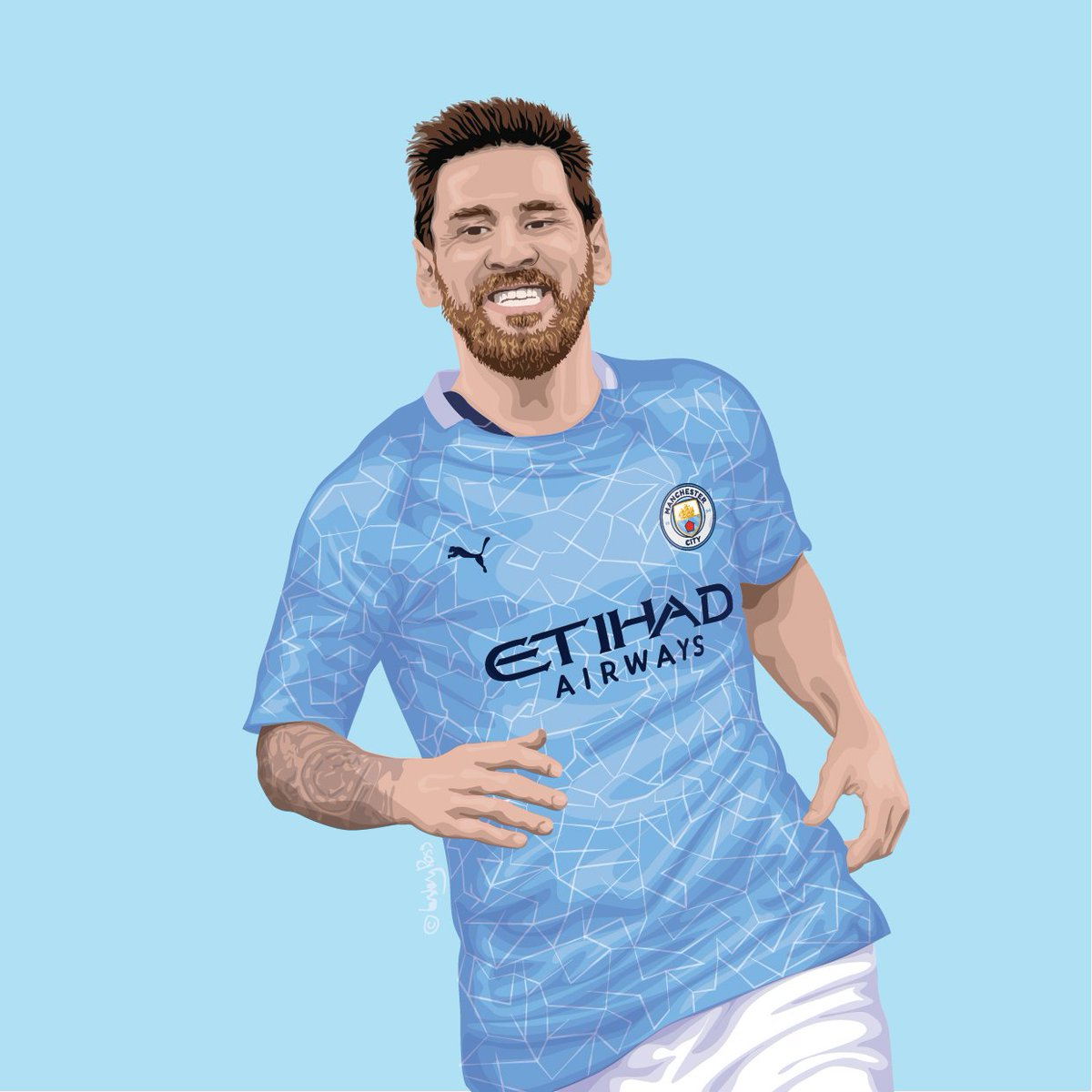 Should I. Dare I. Oh my. 💙  #ManCity #Messi https://t.co/CB6f839jyF