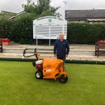 Image for the Tweet beginning: .@SISISMachinery puts Pitmedden Bowls Club