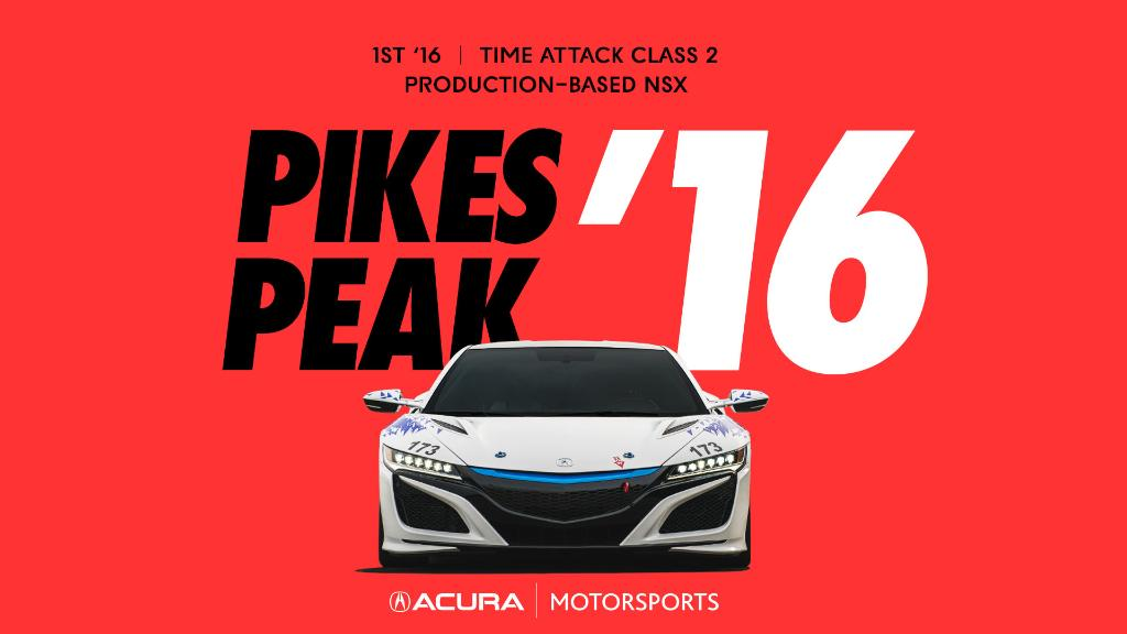 Breaking records at 14,115 ft is quite literally our highest achievement. @PPIHC #AcuraMotorsports https://t.co/4EDaCJcuFA