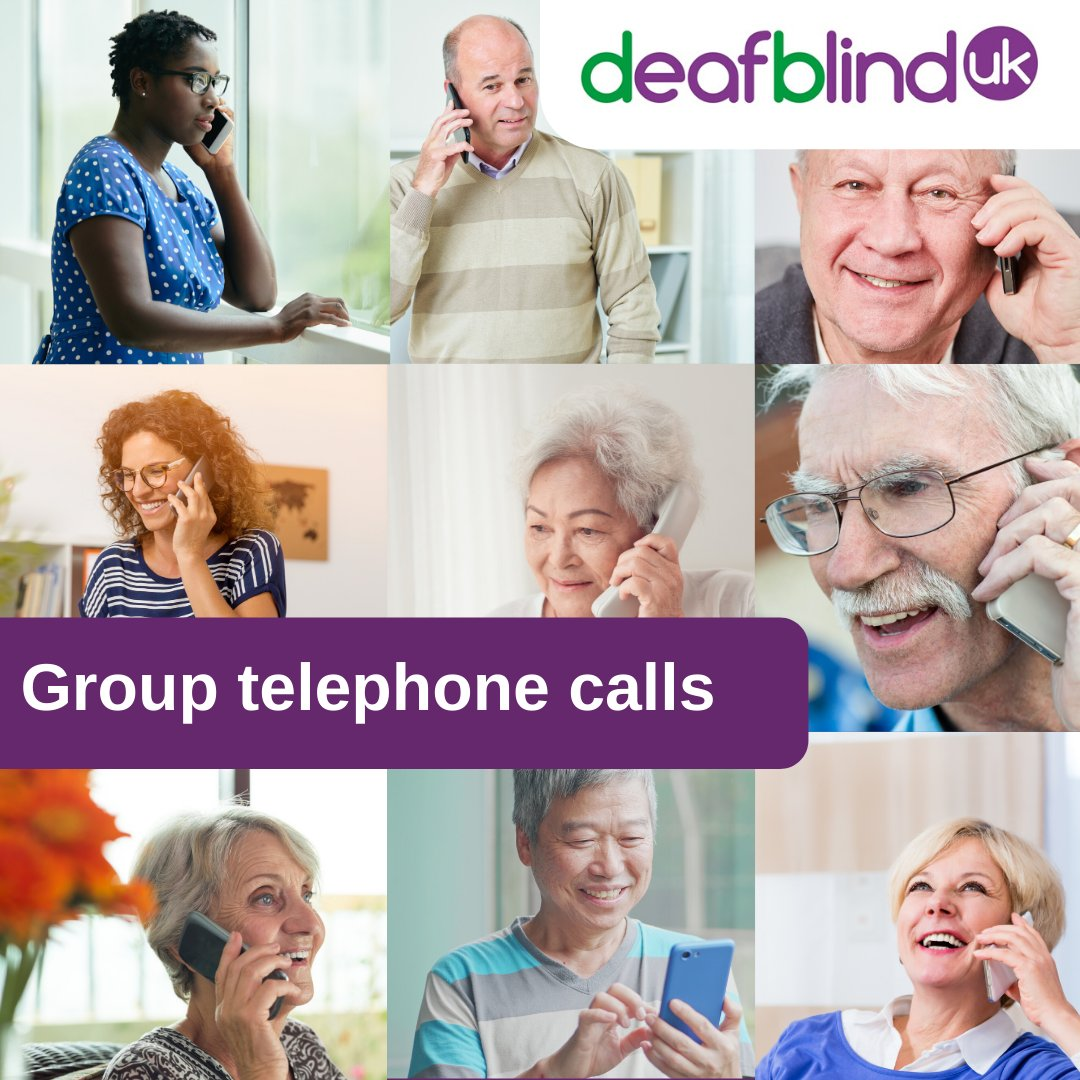Our next social group telephone call takes place on Wednesday next week. To join us, please get in touch by emailing info@deafblind.org.uk or call 0800 132320.  We're looking forward to speaking to you soon! https://t.co/jYdWuXuKVm