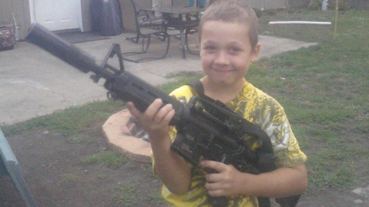This is Terrorist Kyle Rittenhouse as a child. His parents should be charged as well. https://t.co/gynSAOIBp8