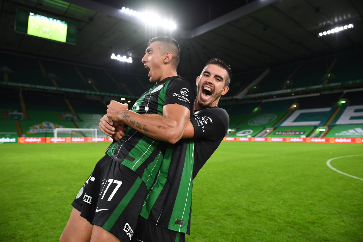 The faces of pure joy 🤩 Great win Green Eagles! 🎉👏  #fradi #ftc #ferencvaros #CELFTC #UCL https://t.co/7ntGgUHWAg