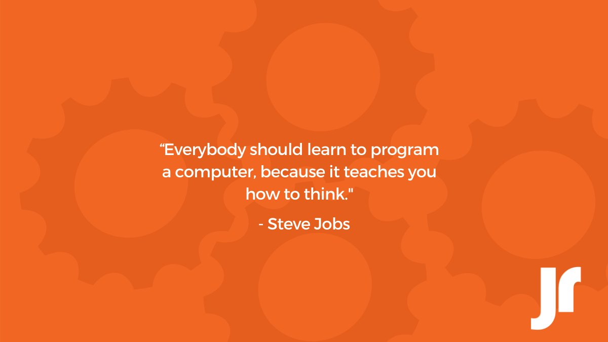 """Everybody in this country should learn to program a computer because it teaches you how to think"". — Steve Jobs. #Quoteoftheday #Quotes #SteveJobs https://t.co/2jdsCdsKwW"