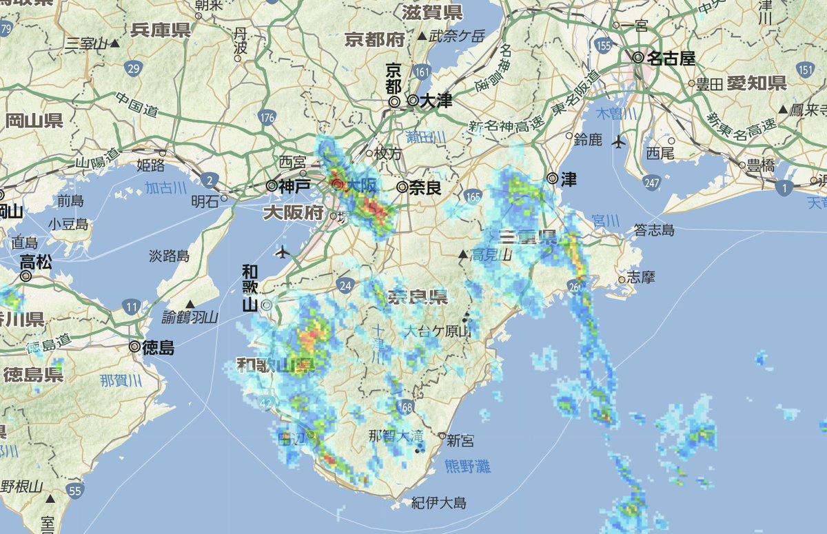 予報 大阪 雨雲 レーダー