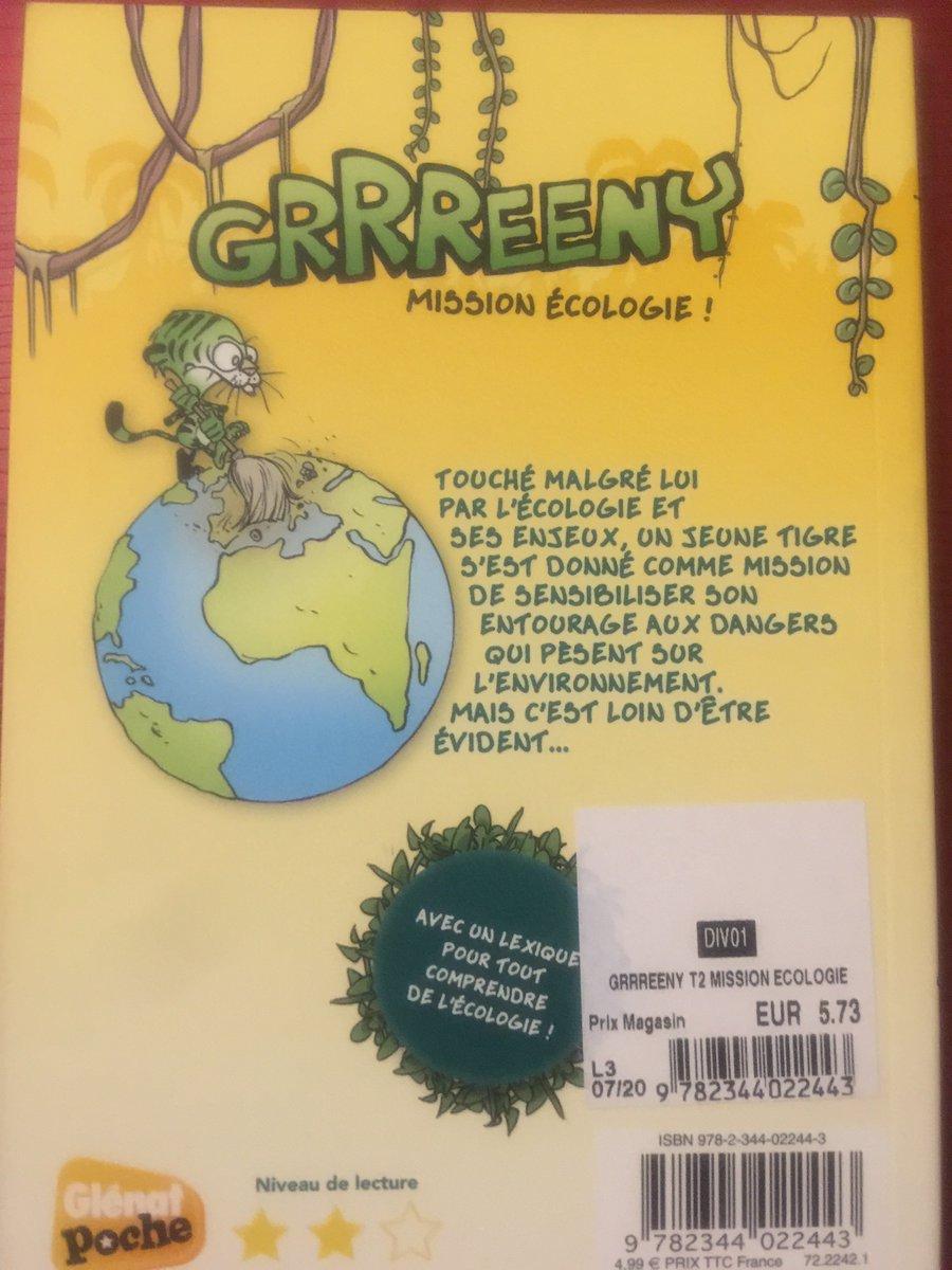 Lecture du jour : «Grrreeny : mission écologie». Un tigre vert (sic) qui s'est donné pour mission d'apprendre à ses congénères le respect de la nature. Garrrrrrre aux contrevenants 😄 #Écologie #Agenda2030 #ODD15 #SDGs #Lecture  @DeDe_clown_ODD @ostock1 @PhiMathis and Co. https://t.co/yauinkC7oY