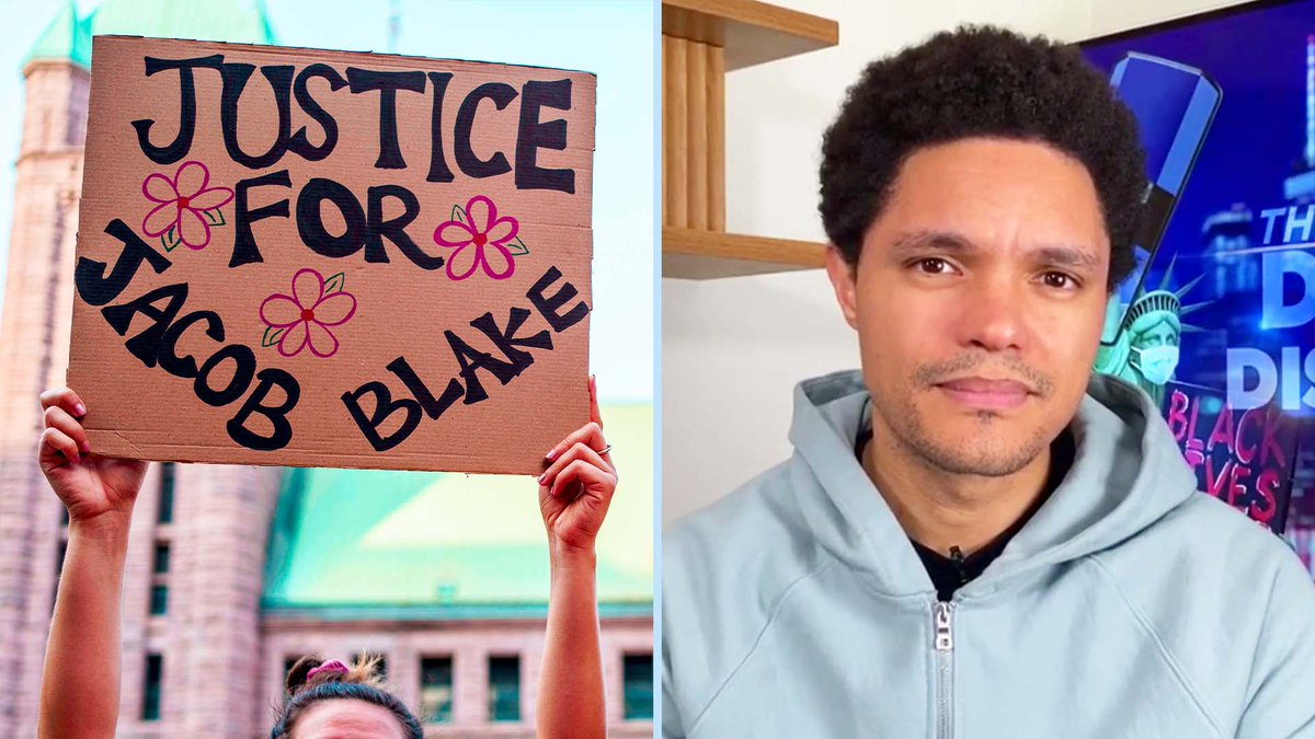 """""""Why was Jacob Blake seen as a deadly threat for a theoretical gun, while this gunman, who had already shot people, was arrested the next day and treated like a human being whose life matters?""""  More on the police shooting of Jacob Blake & protests in Kenosha:"""