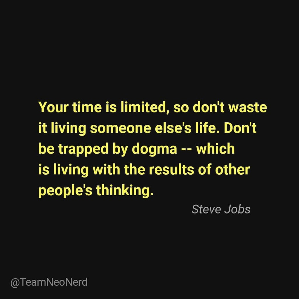 Don't get trapped.. . . . . . #SteveJobs #ThursdayThoughts #Thursday #Time #Apple #TeamNeonerd #Quotes #WhataFight #Unite #InstaQuotes #bookstagram #Motivation #PositiveThinking #Thinking #Thoughts #instadaily #ThursdayDon't get trapped.. . . . . . #SteveJobs #ThursdayThough… https://t.co/oWdCsE3yEm