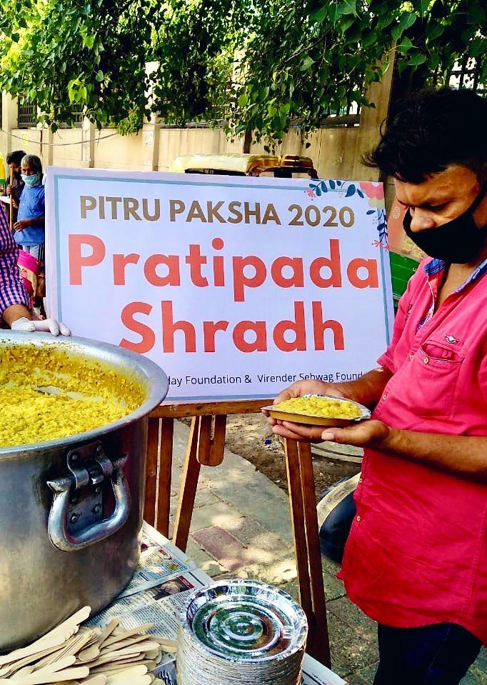 Pitru Paksha Day 2   Pratipada Shradh 2020  On this Pitru Paksha remember your ancestors by offering food to the poor and needy.   W/ @SehwagFoundatn   Details: https://t.co/jp4oqEL3Pa   #pitrupaksha https://t.co/RKUN1qLpYD