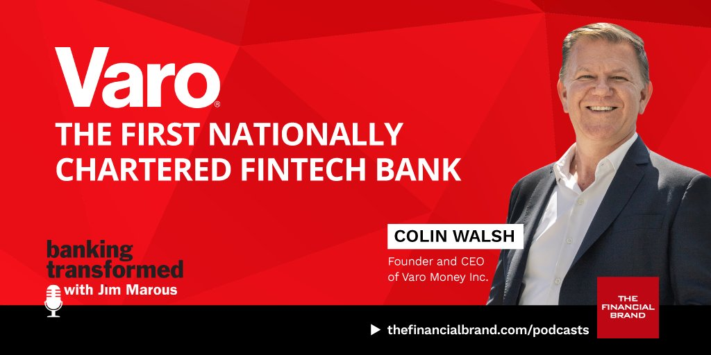 How #Varo Became the First Nationally Chartered #Fintech Bank.  Interview with @varo_colin   https://t.co/nyDY3mG7nq  #banking #finserv #BankingTransformed #podcast   @AlexH_Johnson @RAlexJimenez @pierrepinna @jblefevre60 @chainyoda @dmgerbino @sallyeaves @finteched @guzmand https://t.co/faksjGUsSw