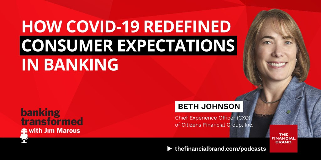 Is Banking Positioned to Meet Consumer Expectations?  https://t.co/vTcSlH7OVR  Insightful interview with Beth Johnson, CMO of @CitizensBank   #banking #CX #digitalbanking #fintech #finserv #BankingTransformed #podcast @AskCitizensBank https://t.co/YUE2LOR4WW