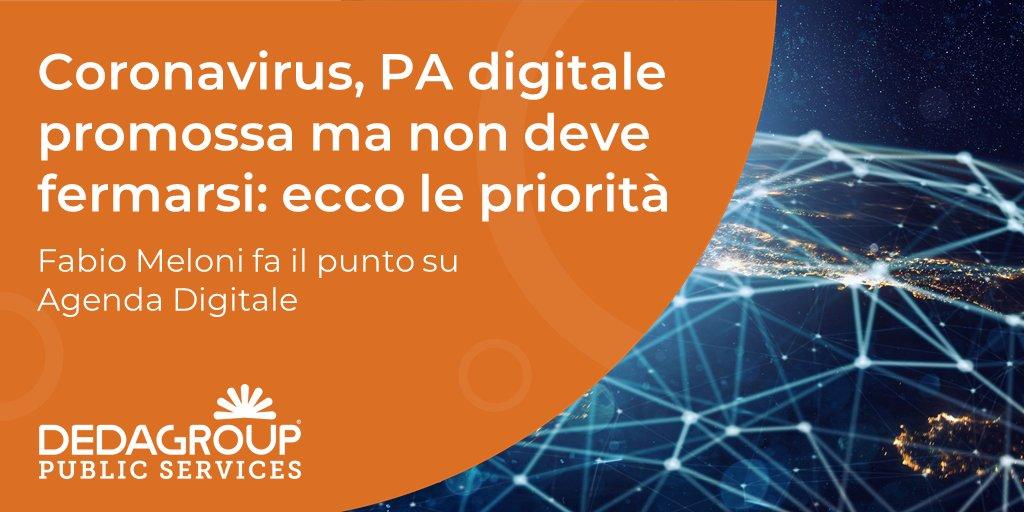 A che punto siamo, in Italia, con la digitalizzazione delle infrastrutture e dei servizi e quali sono le azioni da intraprendere per essere più competitivi? @fabiomeloni71, CEO di Dedagroup Public Services, fa il punto su @Agenda_Digitale.  Scopri di più > https://t.co/kujmgwhQLc https://t.co/54J1D31hrG