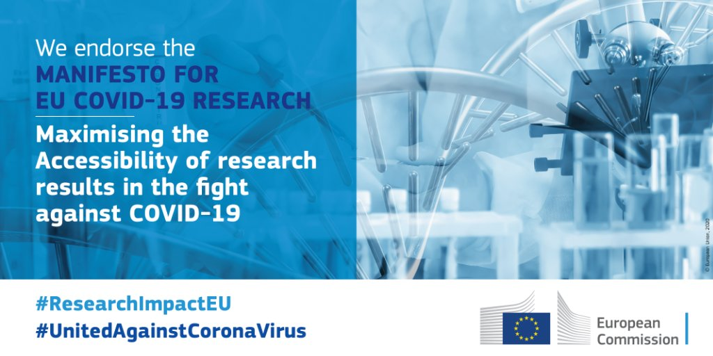 WE ENDORSE the @EU_Commission  manifesto to maximise the accessibility of research data against #COVID19  #ELIXIRCONVERGE #ELIXIRvsCOVID19  ➡️https://t.co/JhRjIYQm9C https://t.co/L05yGxvbWg