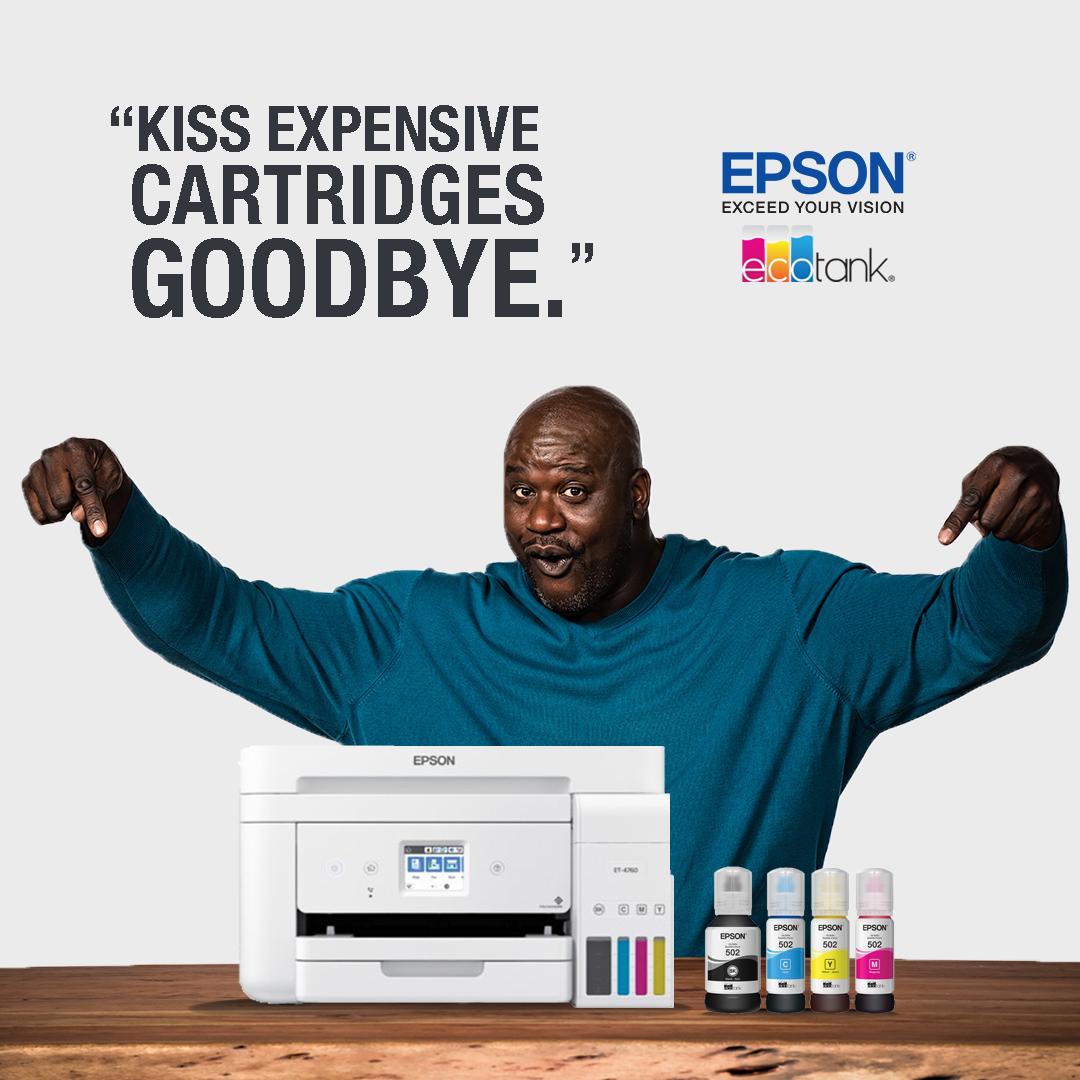 No more expensive cartridges! Thanks, EcoTank 👍  #JustFillAndChill #EcoTank #Epson #Shaq #printer