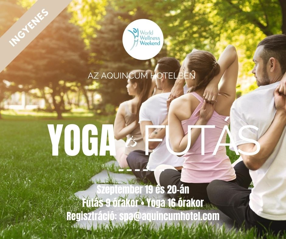 World Wellness Weekend at the Aquincum Hotel Budapest – FREE Join us on September 19th and 20th for running on Margaret Island at 9 am and for Hatha Yoga at 4 pm on both days. Meeting point: in front of the hotel. 📧pre-registration is required by email: spa@aquincumhotel.com https://t.co/4AfKXZq2fa