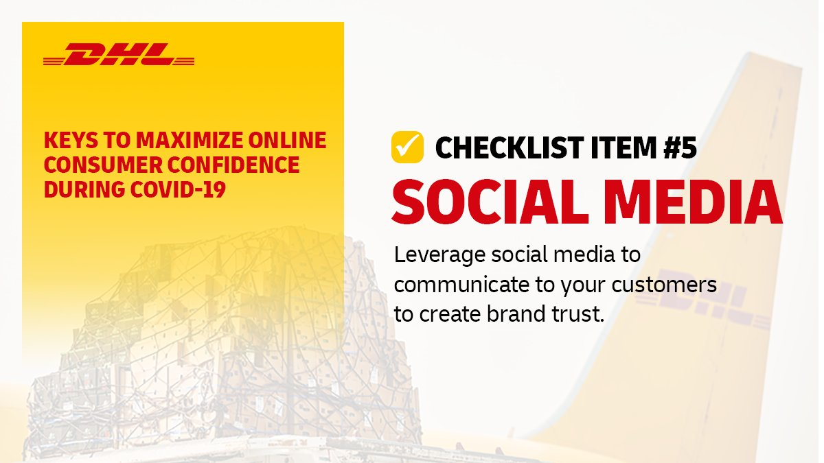 Social media is a vital tool that provides #ecommerce business owners with an opportunity to deliver clarity & reassurance to customers. Get more essential tips for your #business: us.dhl.gl/2RmQski