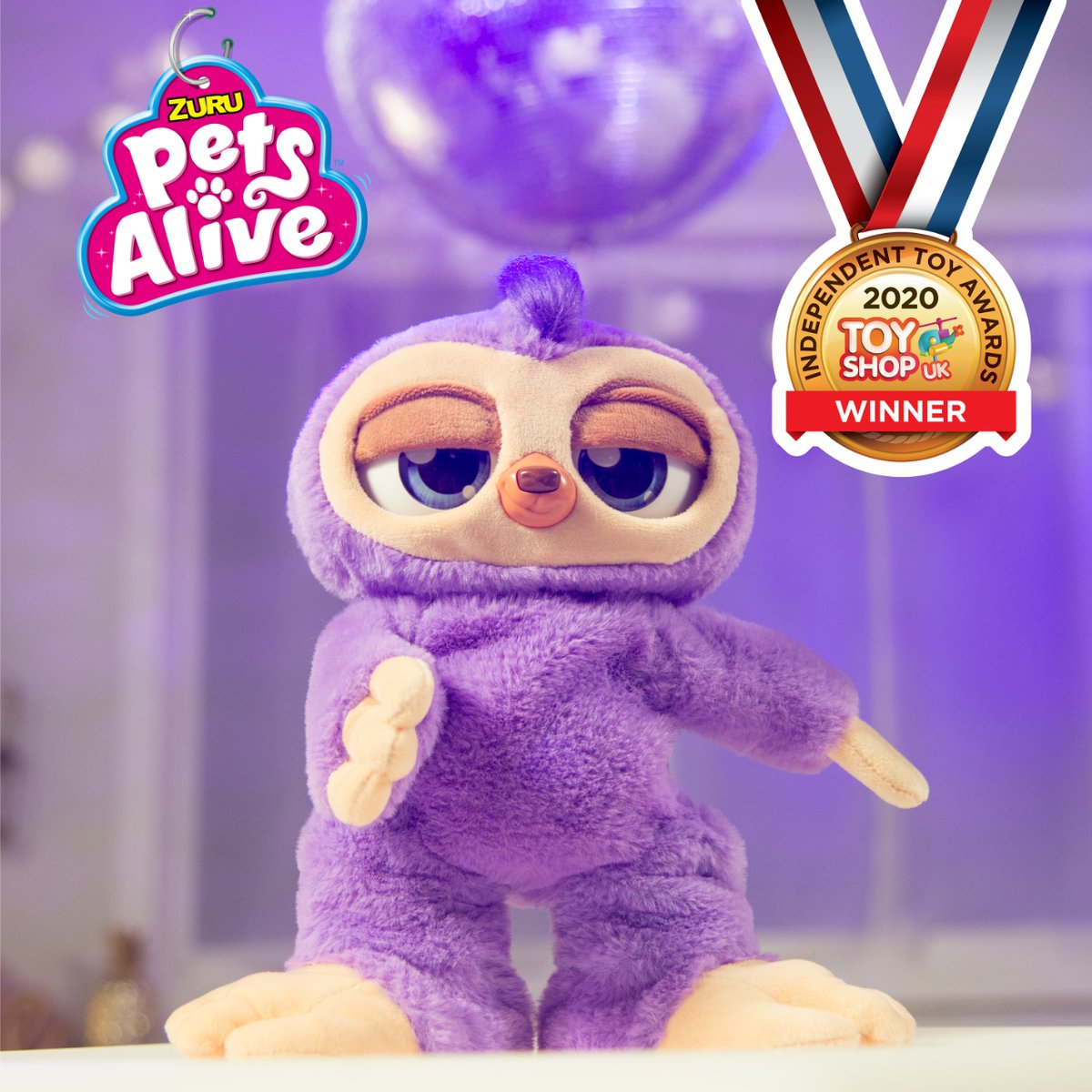 Talking of winners... check out Fifi the flossing sloth! Gold Award winner in the Independent Toy Awards. A MUST have for Xmas - what a mover! #toysoftwitter #toysofinstagram #winner ZURU Toys Toy Shop UK https://t.co/jQ5bylEt7t