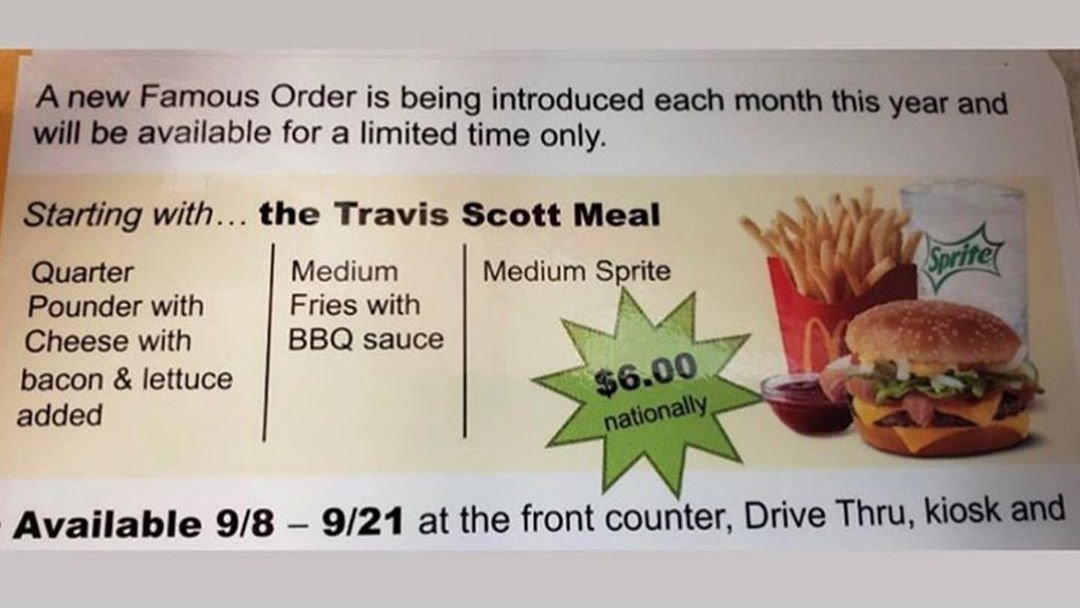 Seperti apa Travis Scott Meal dan Berapa Harganya