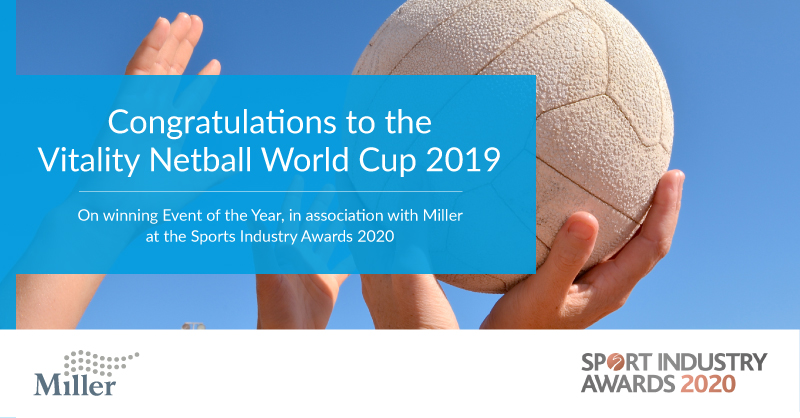 We are thrilled to share the winner for the Event of the Year at the @SportIndustry Awards 2020, congratulations to the Vitality Netball World Cup 2019. Well done to all other nominees and winners!  #SIAwards2020
