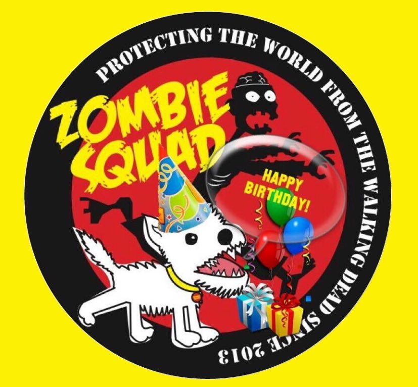 🎂Wishing a very🎈HAPPY BIRTHDAY🎉 to BAXTER's MAMA.🎁 We hope you are have a pawtastic time celebrating your special day, pal.  💜🎂🎈🎁🍾🥂🍸🎉 @sulaica32 @ZombieSquadHQ #ZSHQ https://t.co/megOfNskjM
