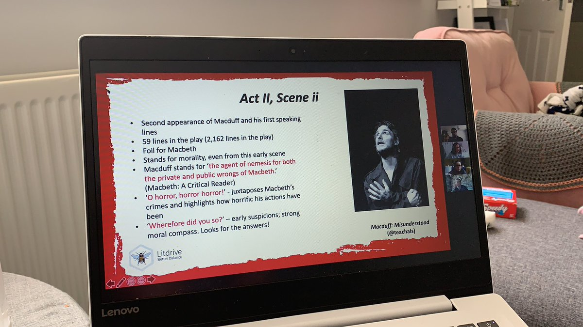 Finally catching up with the fabulous @SPryke2 and @teachals Macbeth cpd on @LitdriveUK