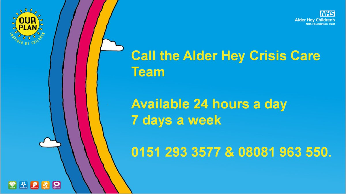 Available 24/7, our @CrisisCareAHH supports under 18s in the Liverpool & Sefton areas needing urgent advice & support with their mental health 🧠 If you need urgent help, don't hesitate, call the team today: 0151 293 3577 & 08081 963 550 ☎️ #WellnessWednesday #WellbeingWednesday