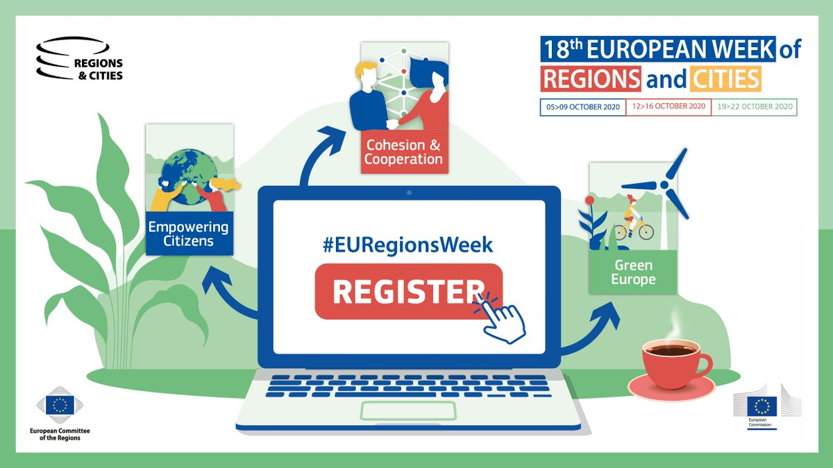 Great opportunity to take part in the #EURegionsWeek this year, share and learn about regional policies!