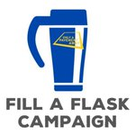 Image for the Tweet beginning: #FILLAFLASK Campaign aims to distribute