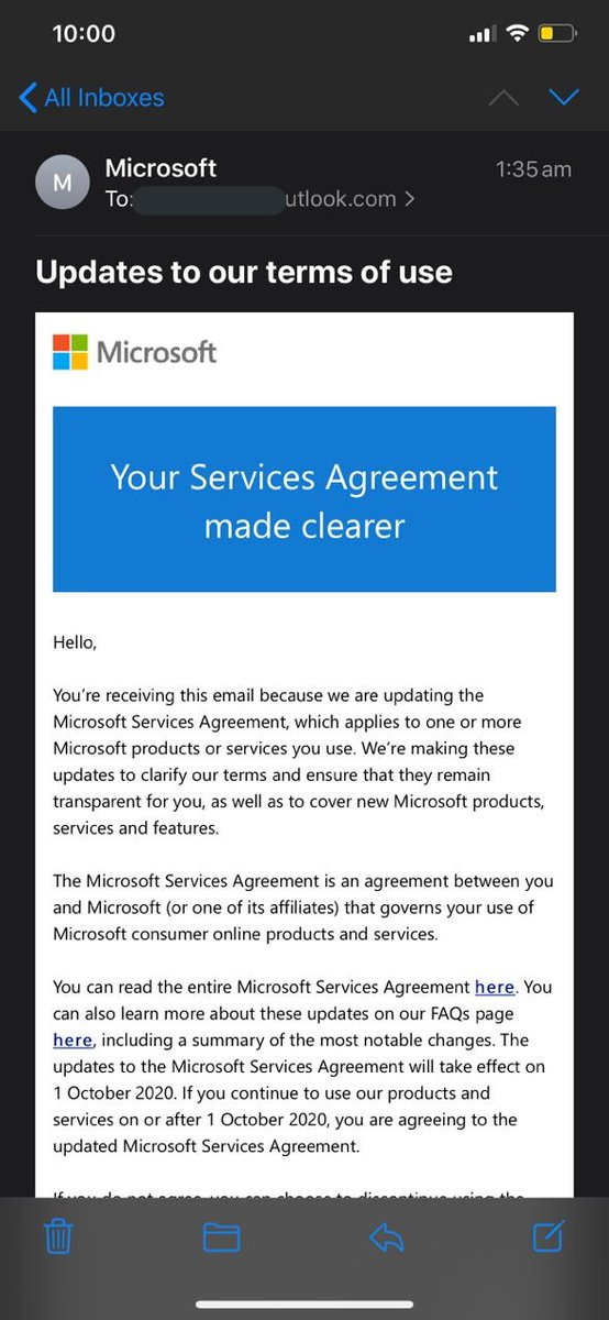 Starting October 1st I might not use anything XboxLive-related including my XboxOneX device, Microsoft Store on my PC and GamePass all together, which I have paid in advance until 2022+. Microsoft has updated their terms of use stating that I'm not allowed to use Xbox. (1/4) https://t.co/OX9WgjCFor
