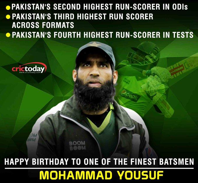 Wishing Mohammad Yousuf A Very Happy Birthday!