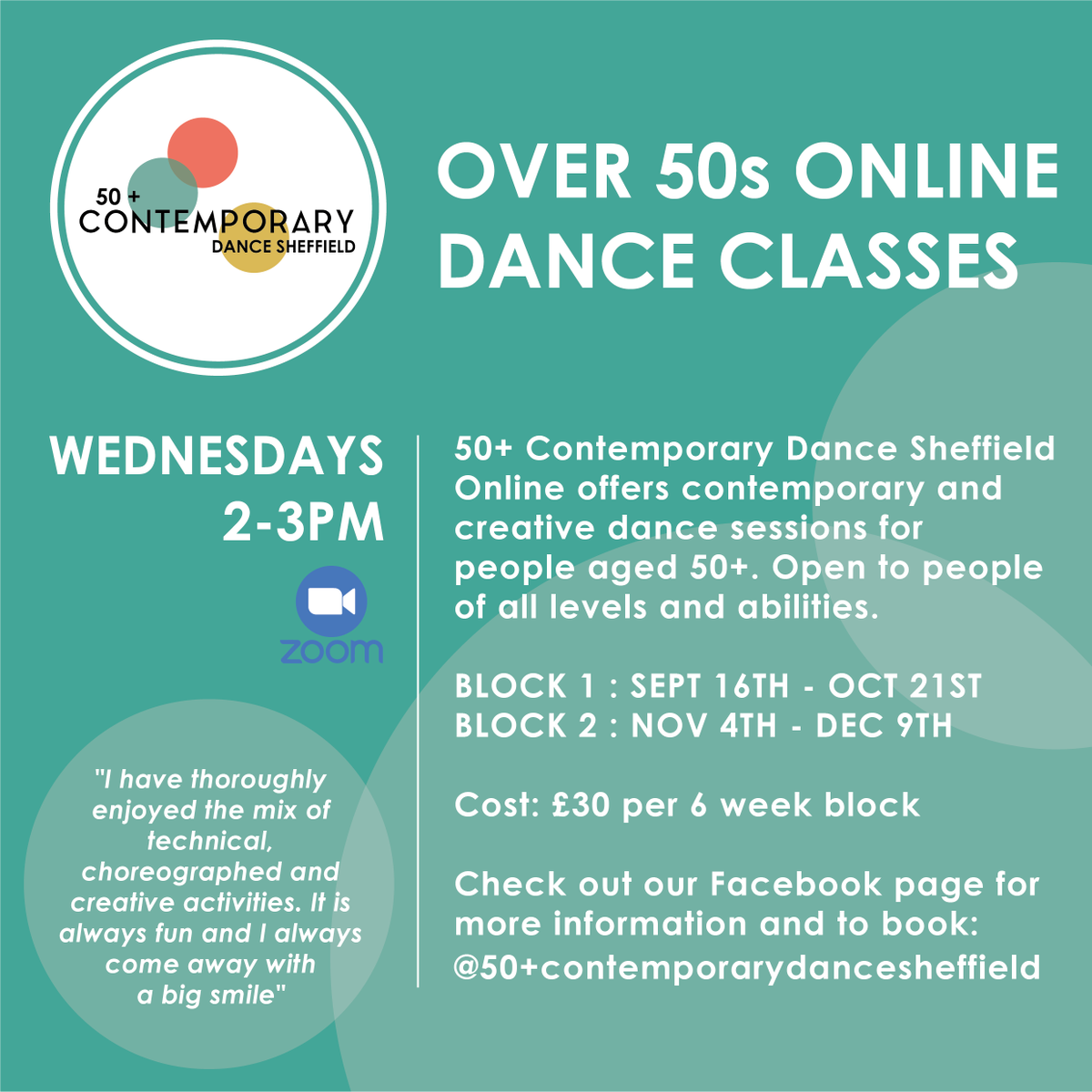 ** AUTUMN TERM ZOOM DANCE CLASSES!!! ** 💛 🌳 🍁 🍂  To pay & book for Block 1 get in contact by THURSDAY 3RD SEPTEMBER  Either message or email lucyhaighton@gmail.com  #Dance #50cds #over50s #communitydance #activeageing #Creative #JOY #dancingforjoy https://t.co/Xgn43aYKfO