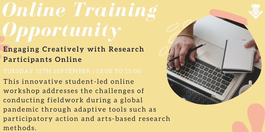 When fieldwork is unexpectedly cancelled, how can researchers engage with their participants in a meaningful & ethical manner? This upcoming training with Kitty Chou & @IoanaP_UoE will address the challenges of conducting fieldwork during a pandemic 👉https://t.co/tmnKIcQCCX #phd https://t.co/V9AnEUhxi2