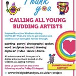 Image for the Tweet beginning: Calling ALL budding creative talents
