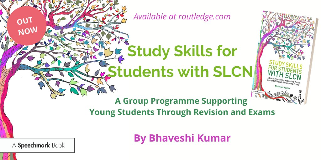 """I think this resource is good for everybody, not just SLCN students; it is adaptable and this is the key to it being a success"" Shirley Suleyman, Assistant SENCO  Take a look at @BhaveshiKumar's brilliant book, 'Study Skills for Students with SLCN', here: https://t.co/zEnWqsIoyw https://t.co/FoTDXwLekZ"