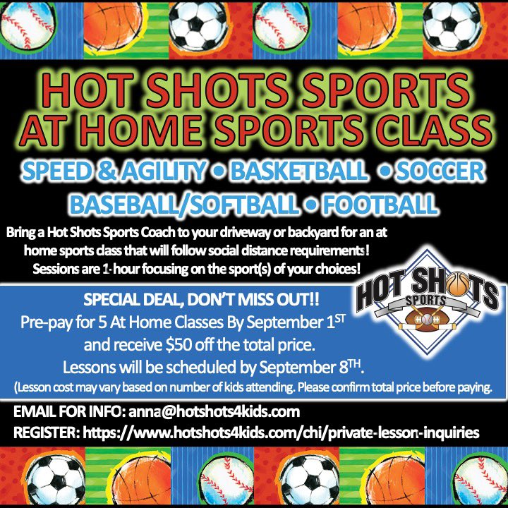 Deal Alert!! Prepay for 5️⃣ At Home Sports Classes and get $50 off the total price! Must pay by September 1 and lessons will be scheduled by September 8. To schedule:  https://t.co/DyqDNZUnLA https://t.co/RaQ3Cc1yKv