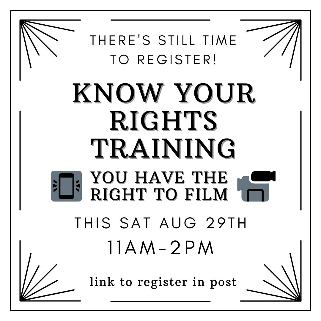 Know Your Rights Training - Filming the Cops @ Online