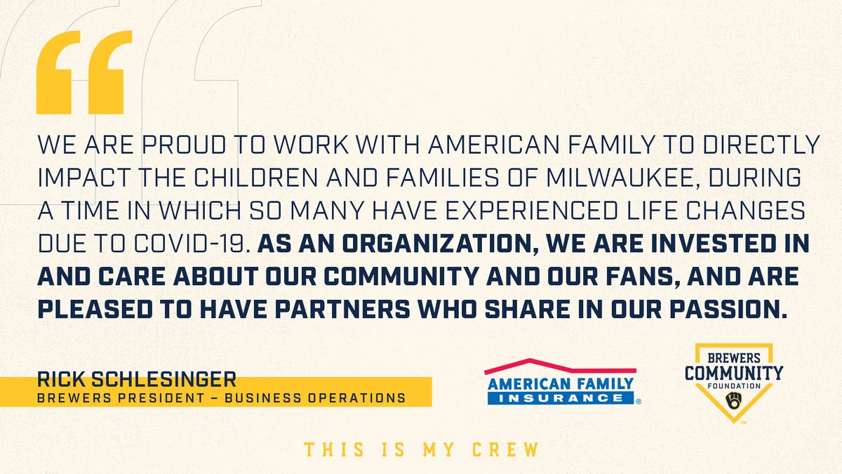 American Family Insurance On Twitter We Love Milwaukee The Joint Donation With The Brewers Will Allow Connectmilwaukee To Hit It S 1 Million Goal Out Of The Park And Provide Internet Access To
