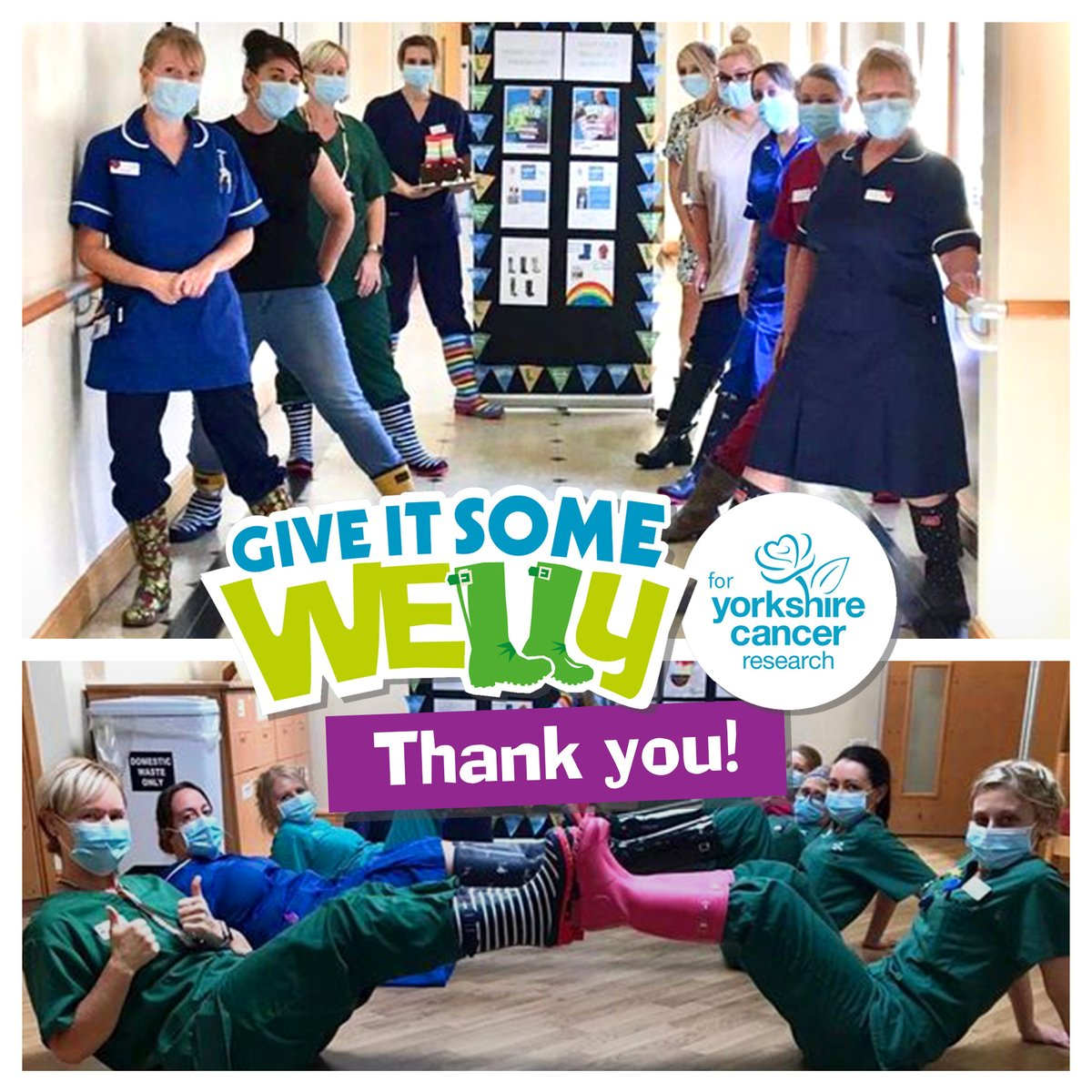 We're so thankful to the Endoscopy Department at Doncaster and Bassetlaw Teaching Hospital, for raising over £1,736 with a 'wear your wellies to work' day. We're truly humbled by these NHS heroes. #GiveItSomeWelly