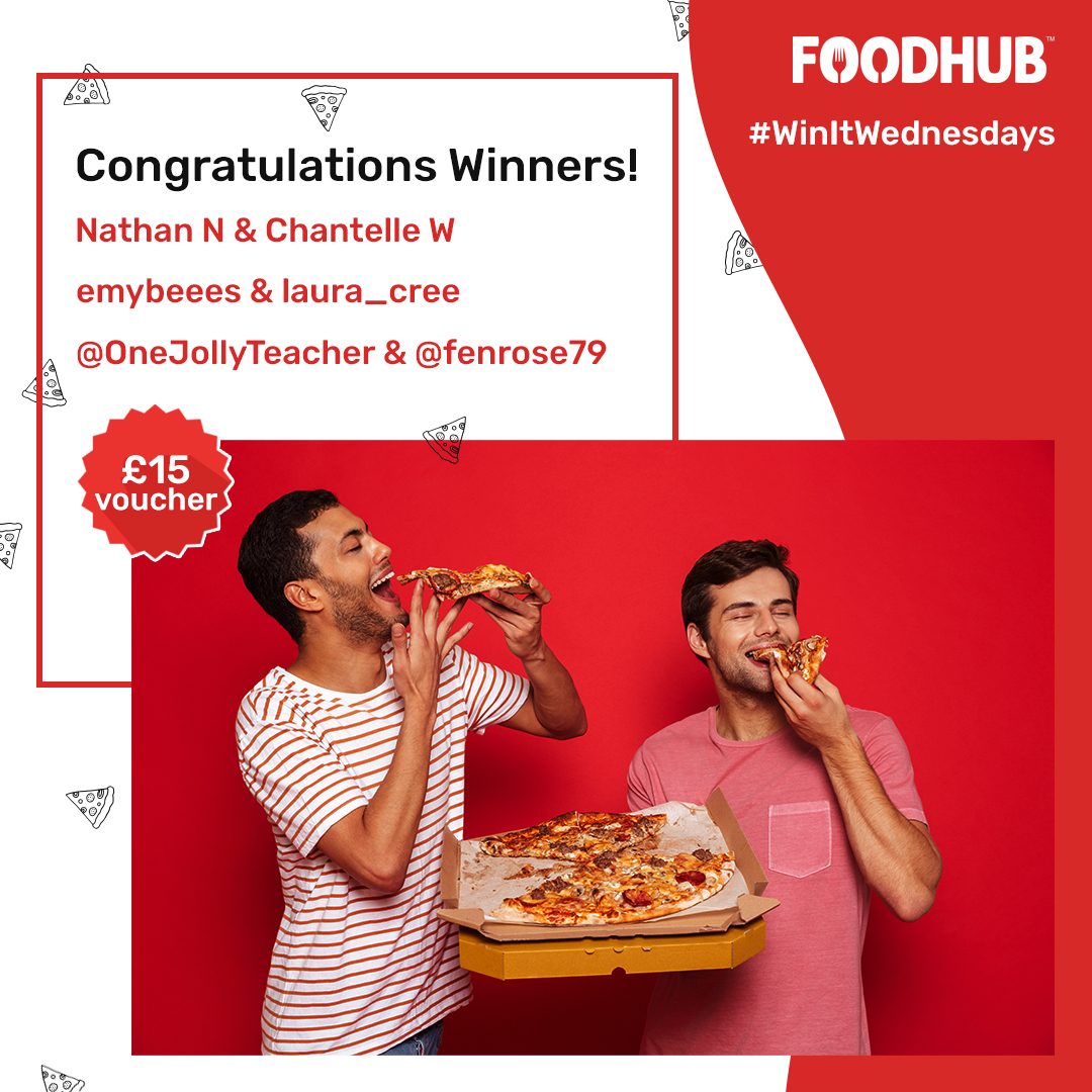 We are so overwhelmed with your amazing responses to yesterday's #WinItWednesdays contest! 😍  Congratulations to the winners!   Keep watching our space for new weekly contests to boost your chances. Cheers!   #PizzaBuddies #PizzaLovers #Pizzas #ContestWinners #foodies #Foodhub https://t.co/vHfHOlIUPi