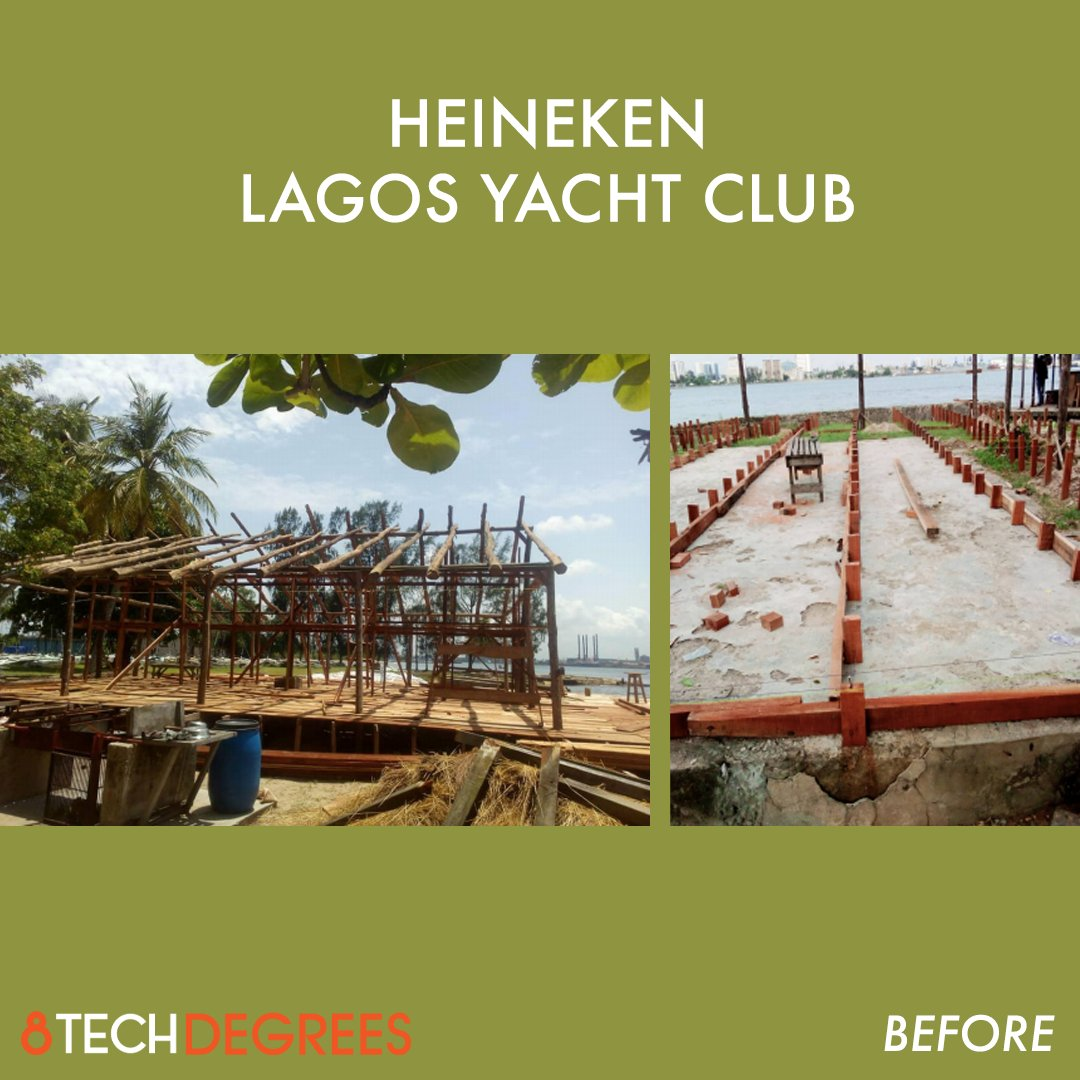 A before and after look at the progress made by the 8TechDegrees team in country on the Heineken Lagos Yacht Club.   #interiors #archdaily #arquitetura #interiordesign #storedesign #architecture #construction #manufacturing https://t.co/o4lo8ZeKwb