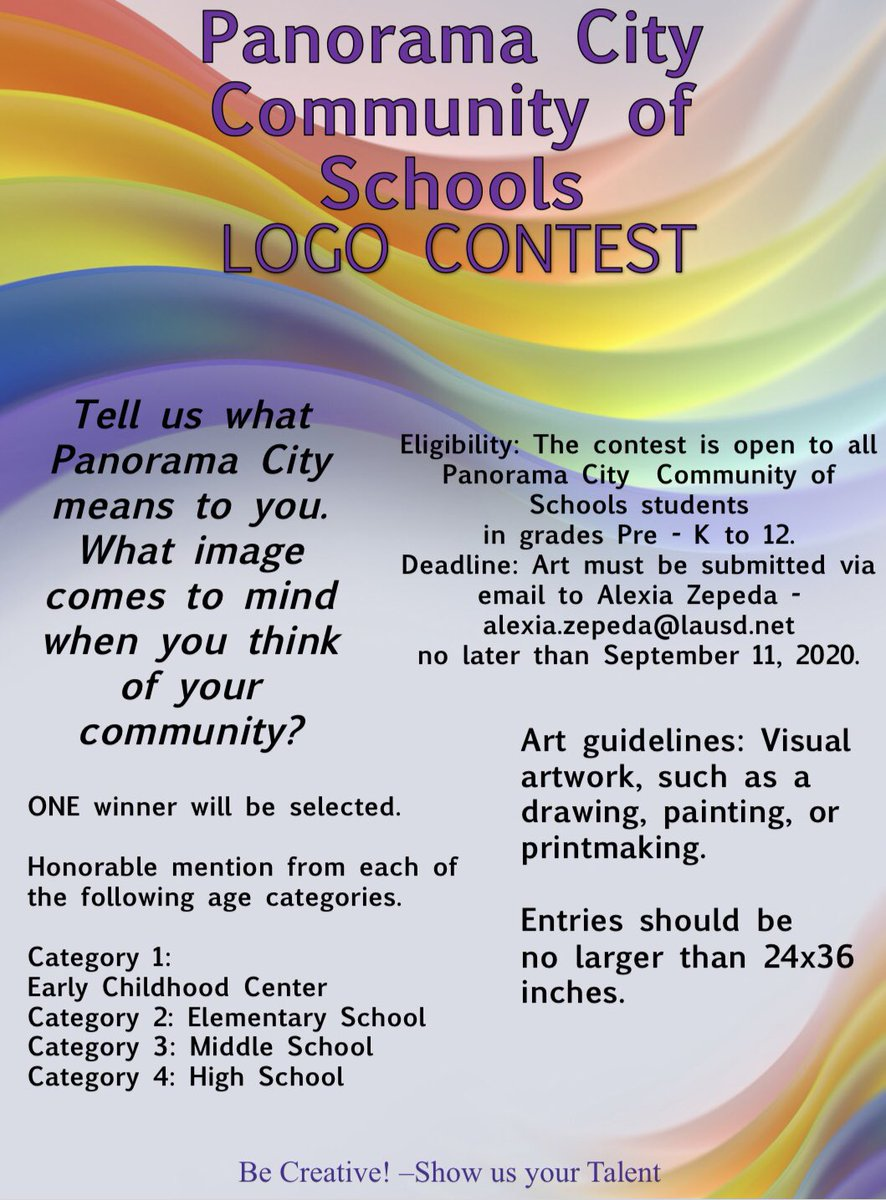 How cool! 😎 Check out @PanoramaCOS Logo Contest 🎨 💟 Submit your design by September 11th, 2020 🗓 #ArtSkills✍🏽 #StudentArtist 🧑🏽🎨 #BeCreative ✨ #ArtEducation 🖍🦋 #ShowYourTalent 🖼 #ArtContest 🏆 Visit the @LDNESchools Website 👍 https://t.co/5N34wqyYNt https://t.co/d6m0kuF9y0