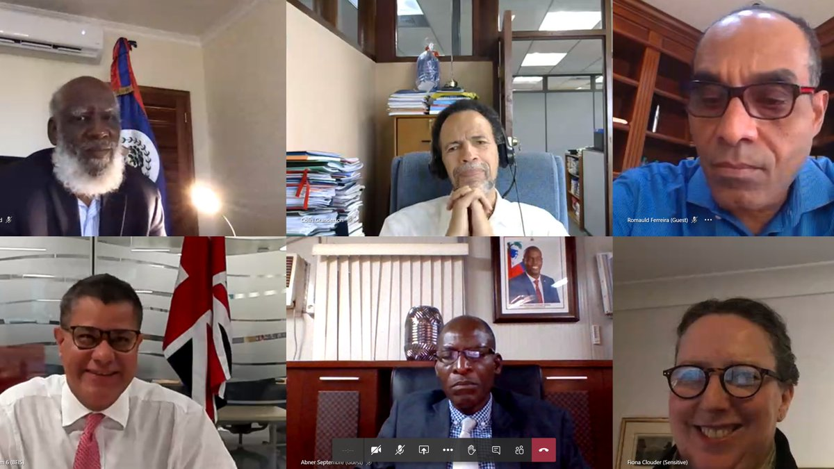 Today I hosted a virtual roundtable with 11 Caribbean countries from @CARICOMorg to discuss our shared ambitions for #TacklingClimateChange    🇦🇬 🇧🇿 🇧🇧 🇬🇩 🇬🇾 🇭🇹 🇱🇨 🇻🇨 🇰🇳 🇸🇷 🇹🇹  Strong regional and global collaboration is key as we prepare for a successful @COP26 https://t.co/SzBFUnmQvs