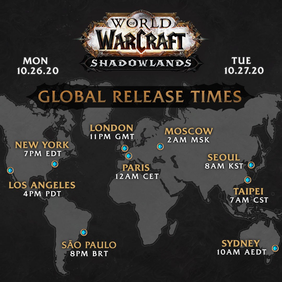 Shadowlands fecha de salida