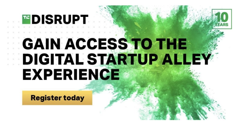 We're partnering with @TechCrunch to bring startups exhibiting in its virtual Disrupt conference some serious value. Register: https://t.co/pq3YQLWzTN Promo code: digitalstartupalley ($50 off) https://t.co/noZZqA5myd